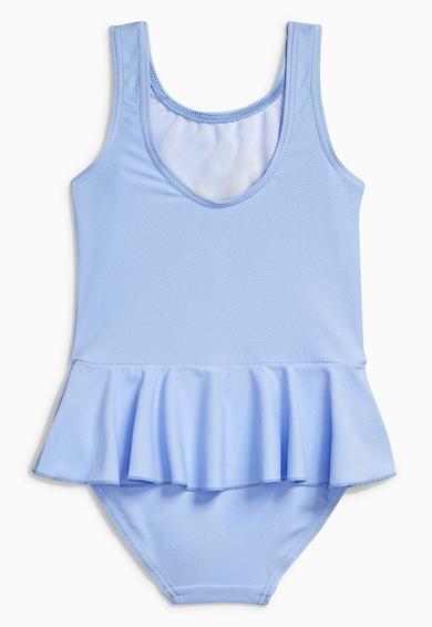 NEXT Costum de baie bleu cu broderie Fete