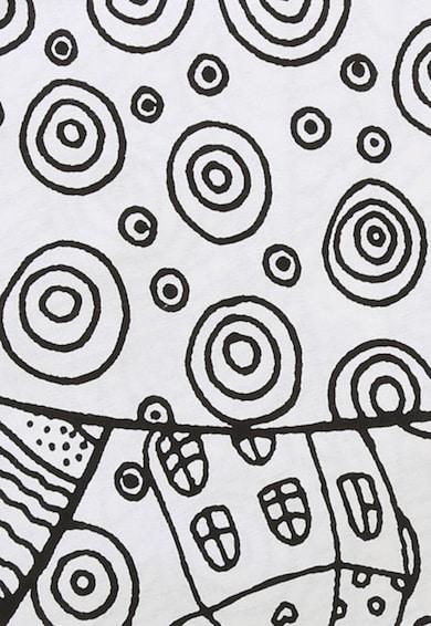 Leunelle Бял чаршаф с ластичен подгъв на шарки 180X200 Жени