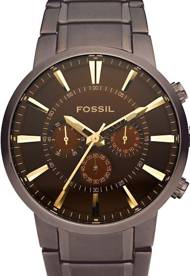 Fossil Кафяв часовник с хронограф Мъже