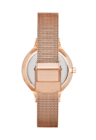 Skagen Розово-златист часовник с кристали Жени