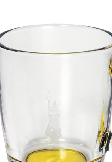 BIALETTI Set de cani de sticla alb transparent cu galben - 6 piese Femei