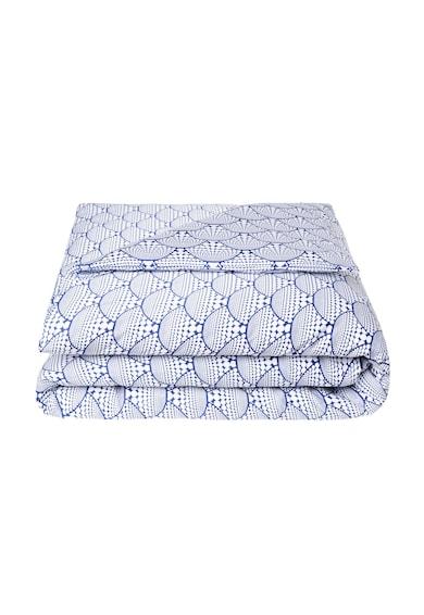 Descamps Плик в бяло и синьо с ориенталски десен Жени