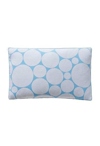 Descamps Perna decorativa alb cu albastru cu buline Illusions Femei