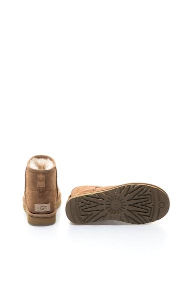 UGG Cizme scurte maro camel de piele intoarsa Classic Mini II Femei