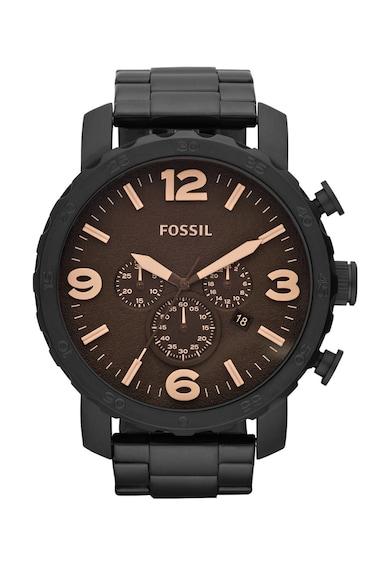 Fossil Черен часовник с хронограф Мъже