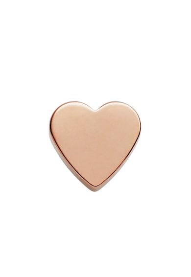 Fossil Cercei auriu rose in forma de inima cu tija Femei