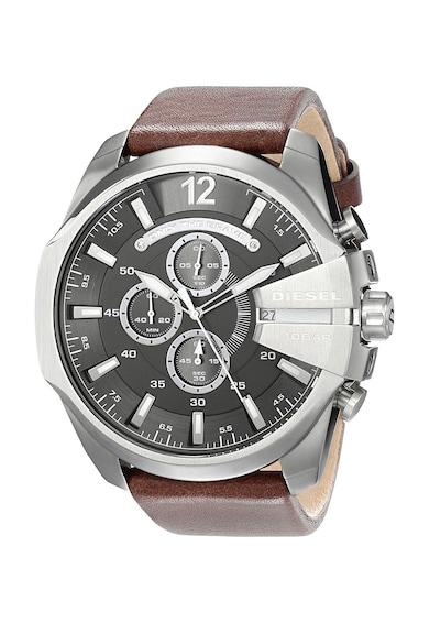 Diesel Ceas cronograf maro cu argintiu Barbati