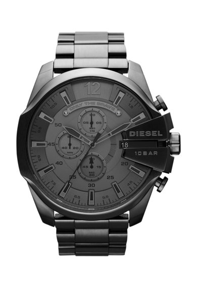 Diesel Тъмносив часовник с хронограф Мъже