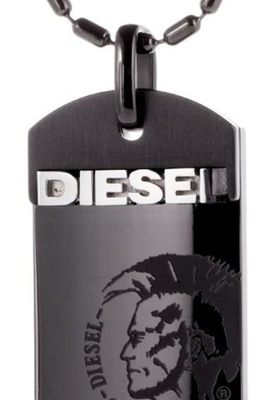 Diesel Черно колие с правоъгълна висулка Мъже