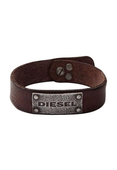 Diesel Bratara maro inchis de piele Barbati