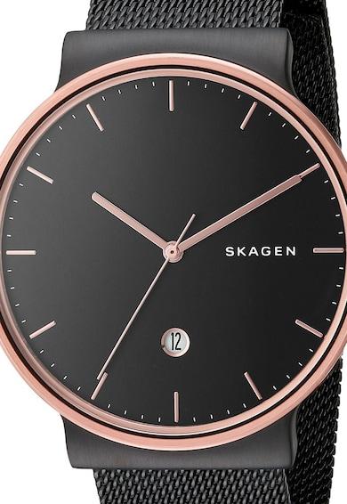 Skagen Часовник в черно и розово-златисто Мъже