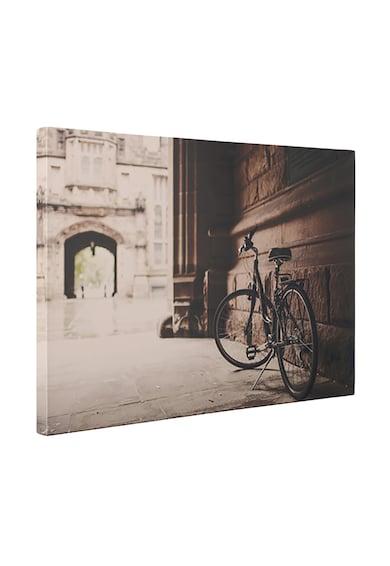 4Decor Tablou de panza cu imprimeu sepia cu o bicicleta Femei