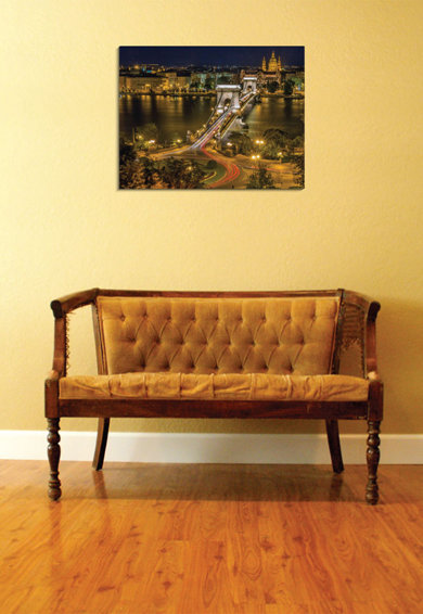 4Decor Tablou de panza Chain Bridge Femei