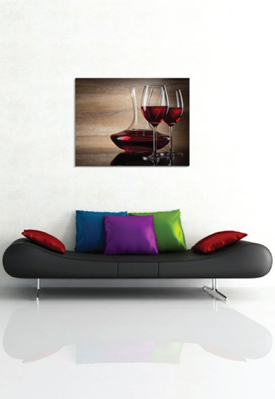 4Decor Tablou de panza Wine Glass Femei