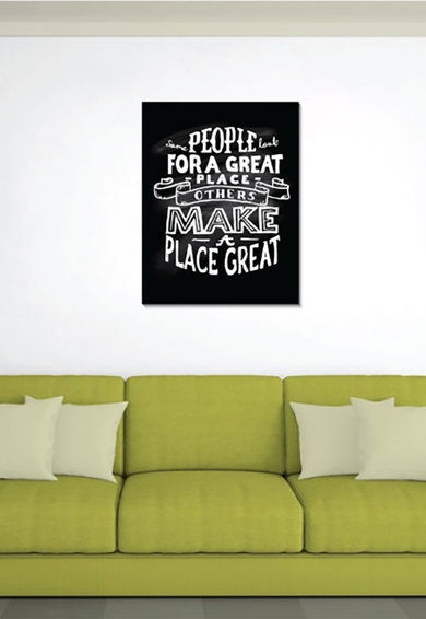 4Decor Tablou de panza Motivational Quote Femei