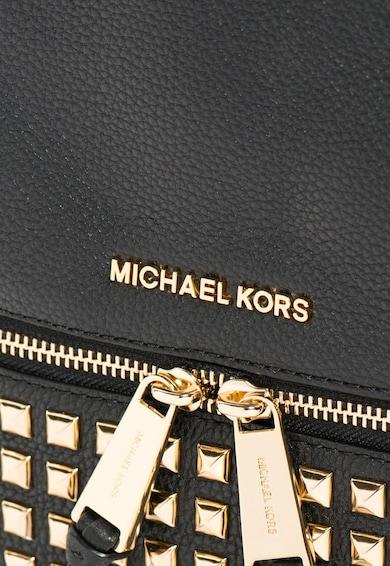 Michael Kors Черна кожена раница с капси Жени