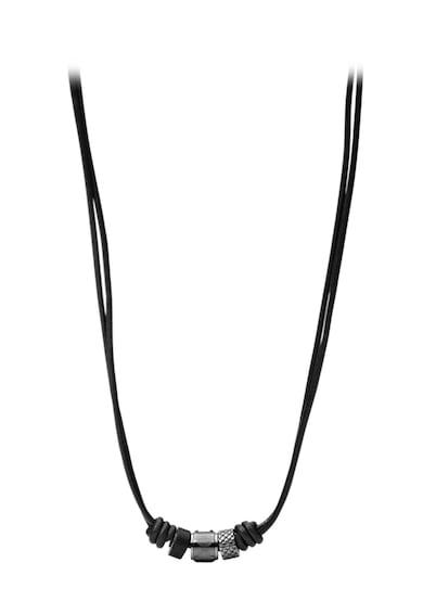Fossil Colier negru de piele Barbati
