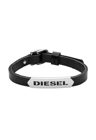 Diesel Bratara neagra de piele Barbati