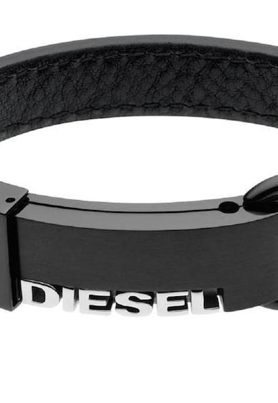 Diesel Черна кожена гривна Мъже