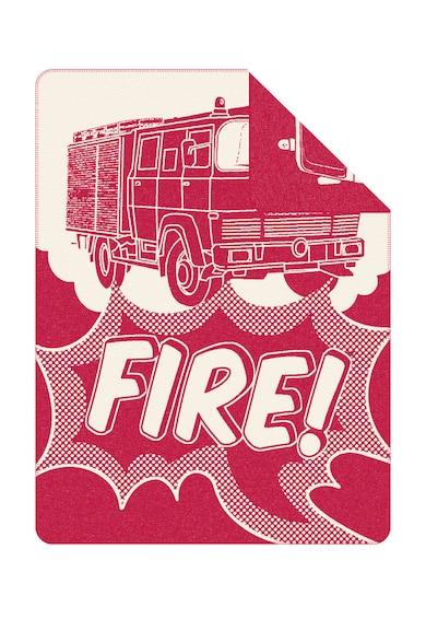 s.Oliver Patura rosu cu alb si design masina de pompieri Femei