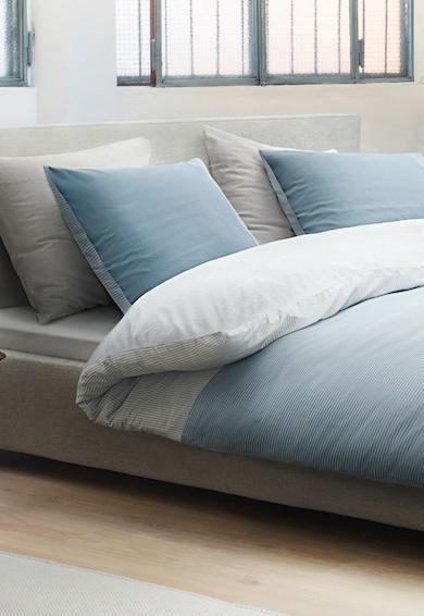 Marc O'Polo Lenjerie de pat cu model in dungi Finnia, Albastru/Alb Femei