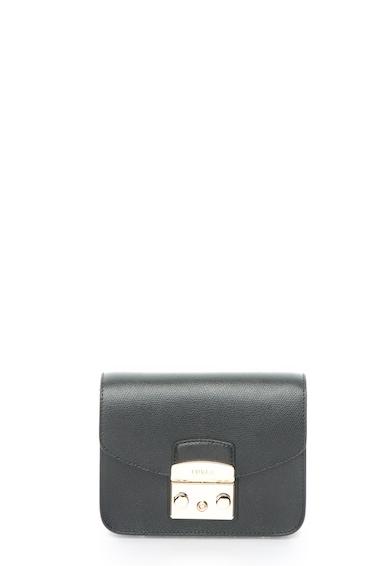 Furla Черна кожена чанта Жени