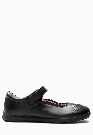 NEXT Pantofi Mary Jane negri de piele cu design pisica Fete