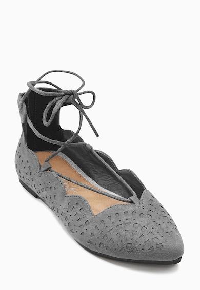 NEXT Детски сиви пантофки с връзки Момичета