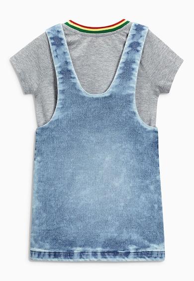 NEXT Set gri cu albastru de imbracaminte - 3 piese Fete