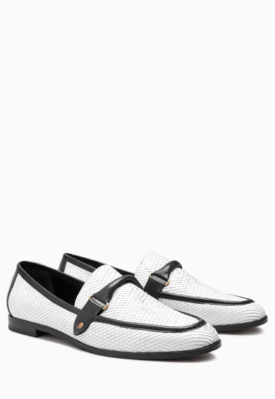 NEXT Pantofi loafer alb cu negru Femei