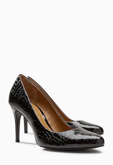 NEXT Hüllőbőr mintás műbőr magas sarkú cipő női