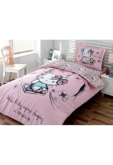 Hello Kitty Lenjerie de pat  Nature, pentru o persoana, bumbac ranforce, 160x220 cm Femei