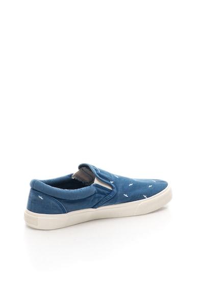 Pepe Jeans London Pantofi slip-on albastri cu imprimeu pasari Harry Barbati