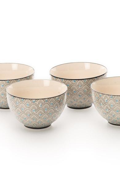 Clayre & Eef Set de boluri ceramice multicolore - 4 piese Femei