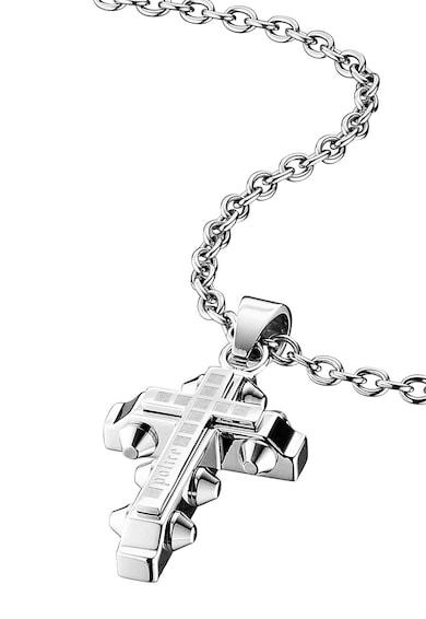 Police Colier argintiu din lant cu o cruce Faith Barbati