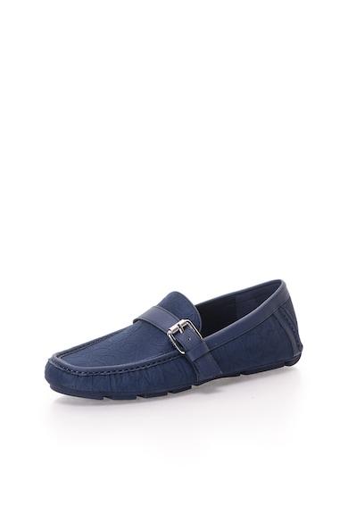 Calvin Klein Pantofi loafer bleumarin cu model logo Tyrus Barbati