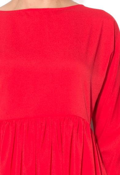 Maiocci Rochie rosie evazata cu buzunare Femei