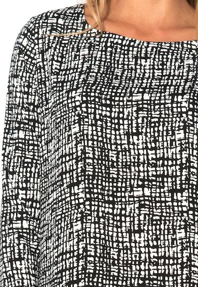 M by Maiocci Rochie ngru cu alb cu imprimeu abstract Femei