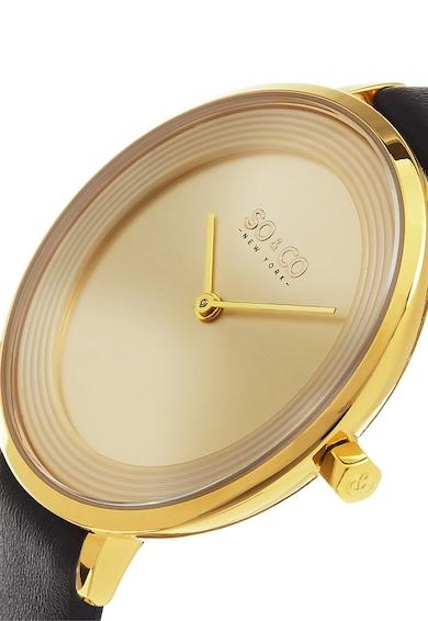 SO&CO New York Ceas negru cu auriu Madison Femei