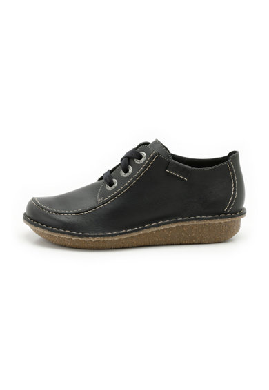 Clarks Тъмносини кожени обувки Жени