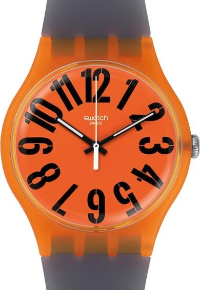 Swatch Ceas oranj cu gri Originals Femei