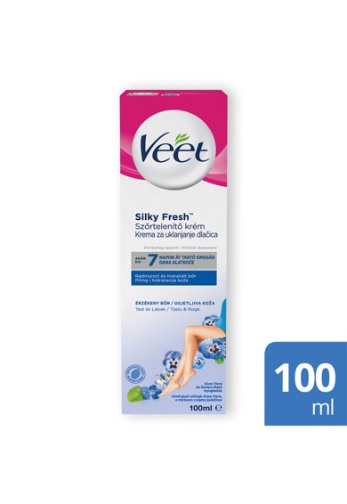 Veet Crema depilatoare  Silky Fresh pentru piele sensibila Femei