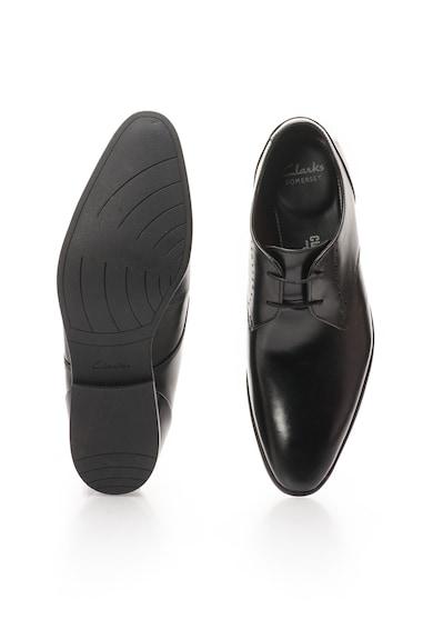 Clarks Черни кожени обувки Мъже