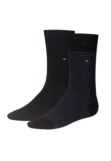Tommy Hilfiger Egyszínű és csíkos zokni szett - 2 pár férfi