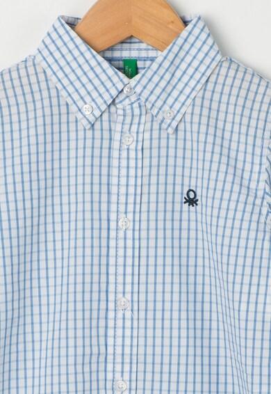 United Colors of Benetton Camasa albastru cu alb in carouri Baieti