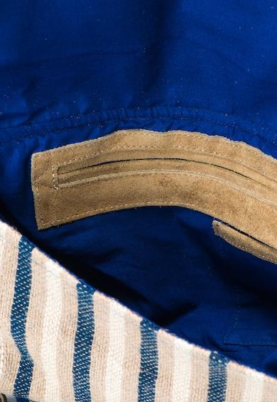 Pepe Jeans London Geanta de umar bej cu albastru din iuta Ocean Femei