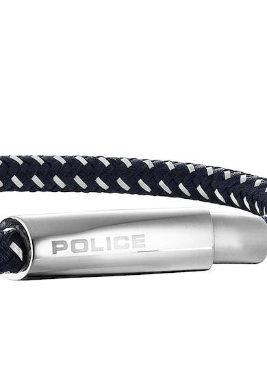 Police Тъмносиня гривна със сребрист детайл Мъже