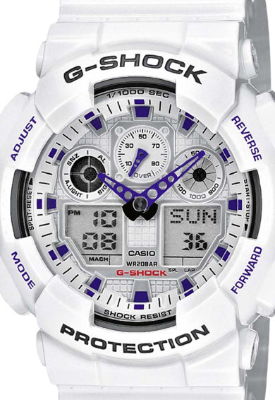 Casio G-Shock Fehér Analóg & Digitális Karóra férfi