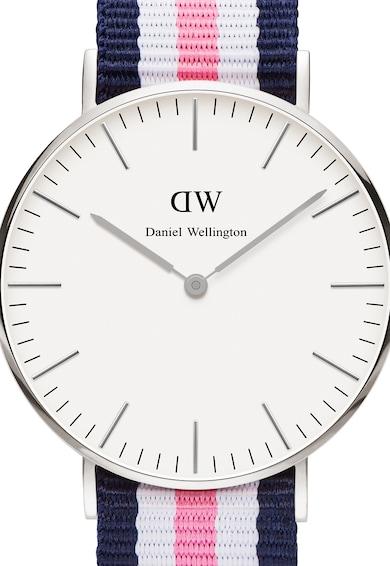 Daniel Wellington Ceas argintiu cu o curea in dungi 0 Femei
