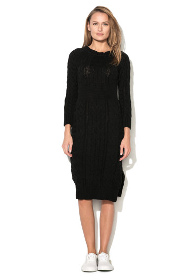 M by Maiocci Rochie tip pulover neagra tricotata TED-11449-BLACK Femei